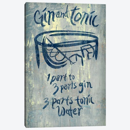 Gin And Tonic Blue Canvas Print #PST296} by PI Studio Canvas Art