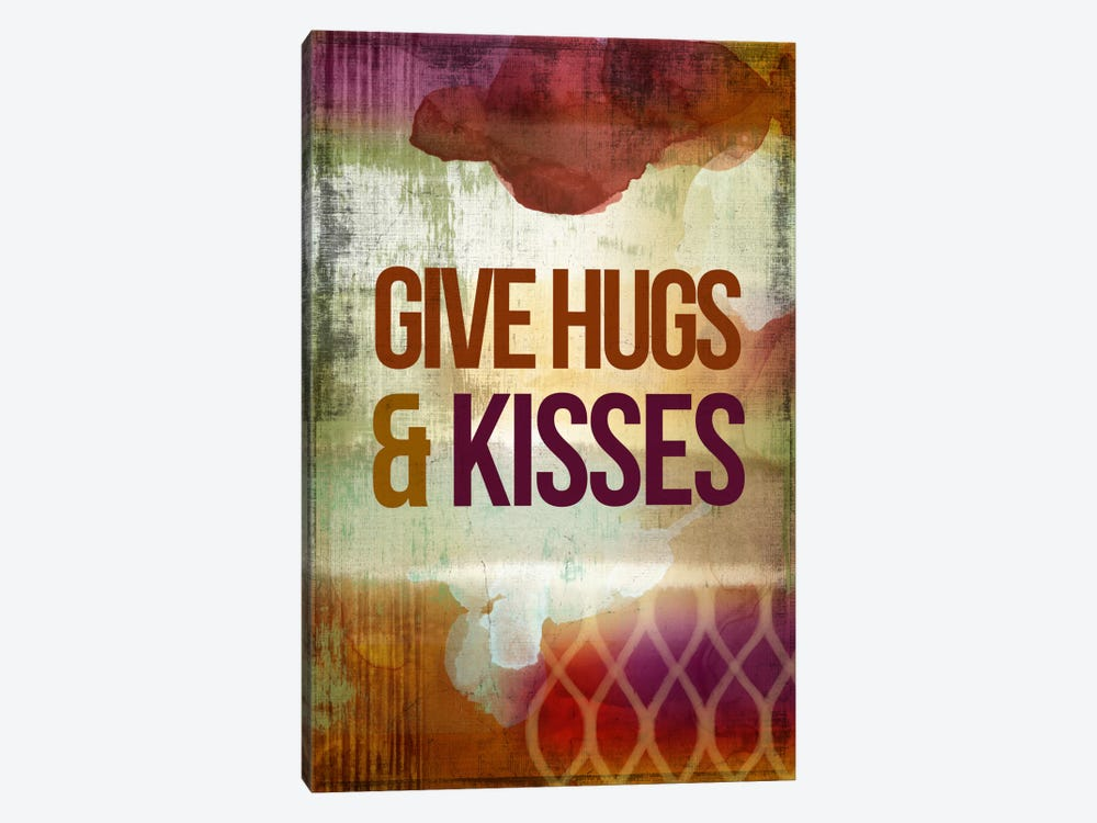 Give Hugs & Kisses by PI Studio 1-piece Canvas Print