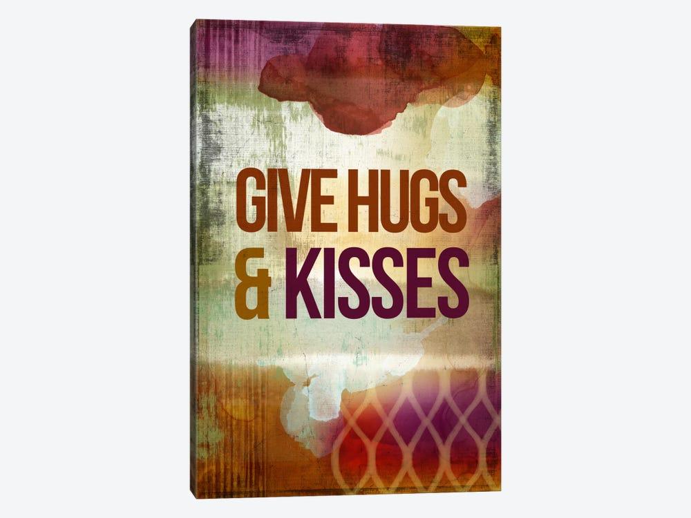 Give Hugs & Kisses by PI Studio 1-piece Canvas Print