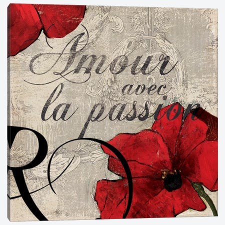 Amour Passion Canvas Print #PST29} by PI Studio Canvas Artwork