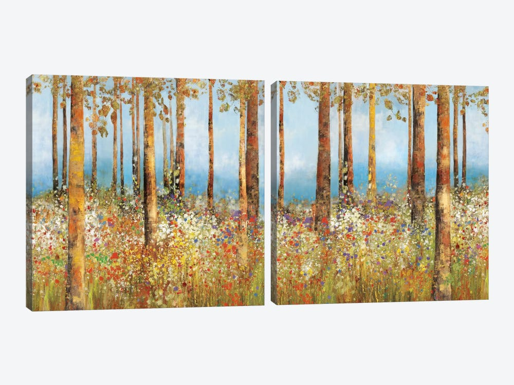 Field Of Flowers Diptych by PI Studio 2-piece Canvas Artwork