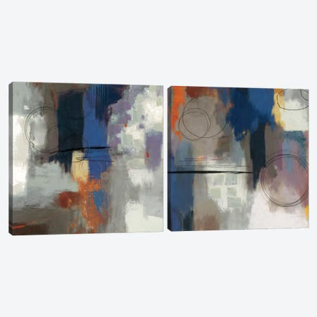 Indigo Touch Diptych Canvas Print Set #PST2HSET004} by PI Studio Canvas Art Print
