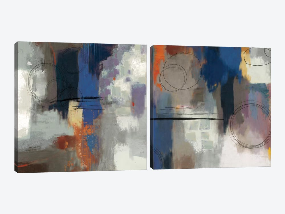 Indigo Touch Diptych by PI Studio 2-piece Art Print