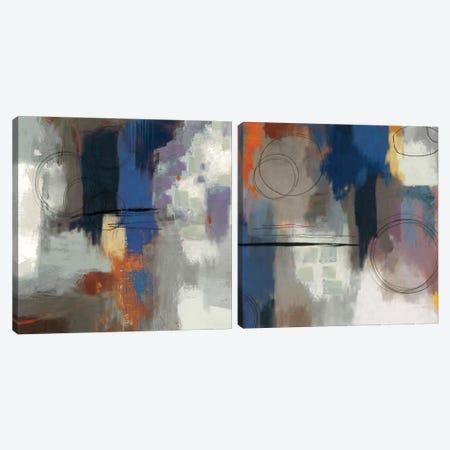Indigo Touch Diptych Canvas Print Set #PST2HSET004} by PI Studio Canvas Art Print