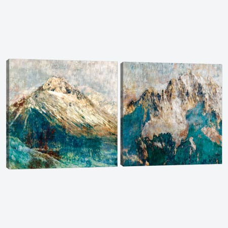 Mountain Diptych Canvas Print Set #PST2HSET005} by PI Studio Art Print