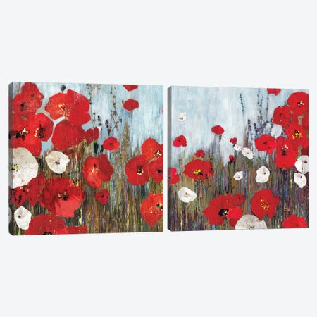 Passion Poppies Diptych Canvas Print Set #PST2HSET006} by PI Studio Canvas Print