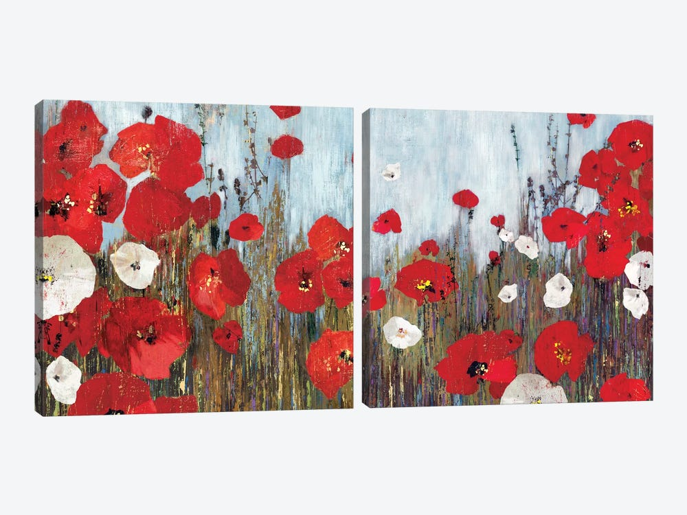 Passion Poppies Diptych by PI Studio 2-piece Art Print