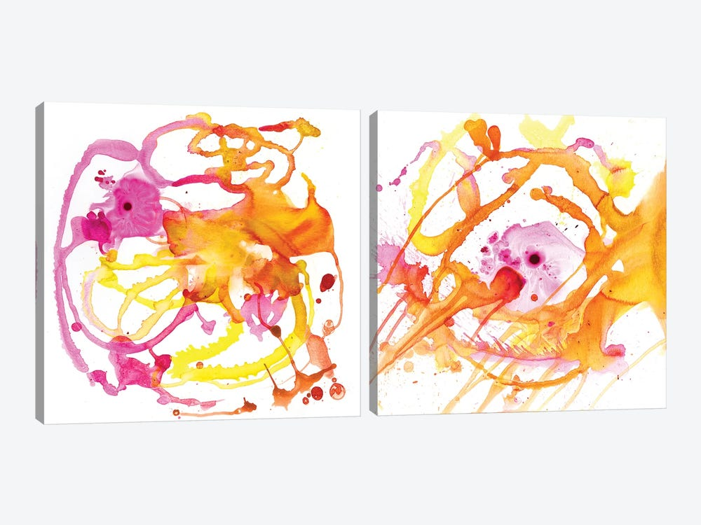 Watercolour Abstract Diptych by PI Studio 2-piece Canvas Artwork
