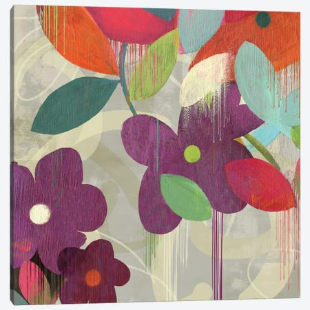 Graffiti Flower I Canvas Print #PST303} by PI Studio Canvas Art Print