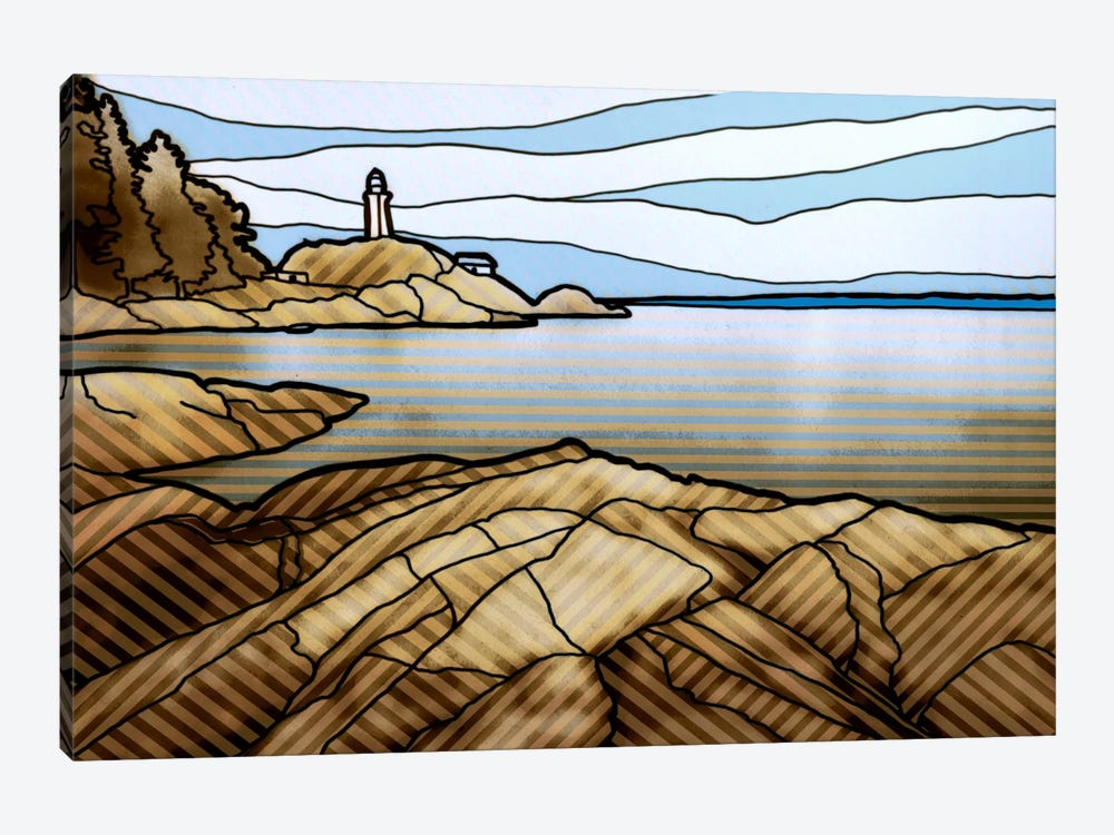 Graphic Lighthouse by PI Studio 1-piece Canvas Wall Art