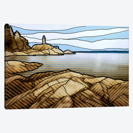 Graphic Lighthouse Canvas Print #PST306} by PI Studio Canvas Wall Art