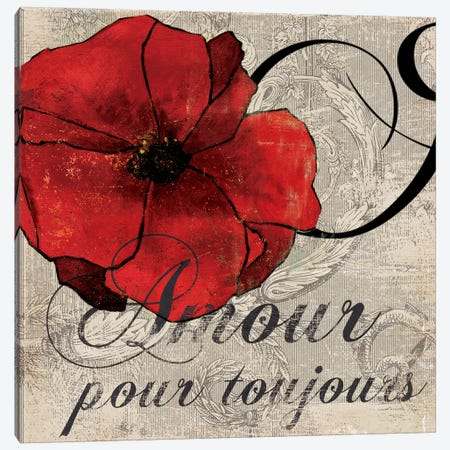 Amour Toujours Canvas Print #PST30} by PI Studio Art Print
