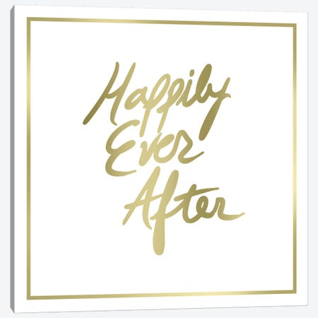 Happily Ever After Border Canvas Print #PST319} by PI Studio Canvas Wall Art