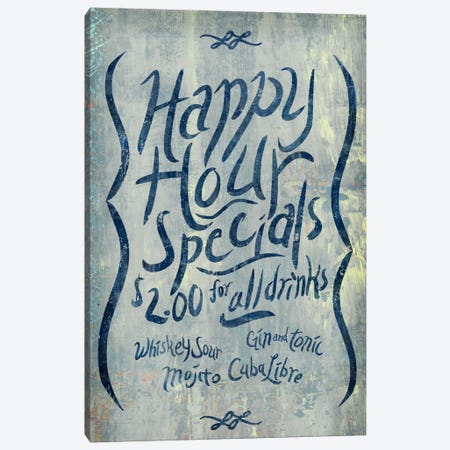 Happy Hour Blue Canvas Print #PST320} by PI Studio Canvas Art Print