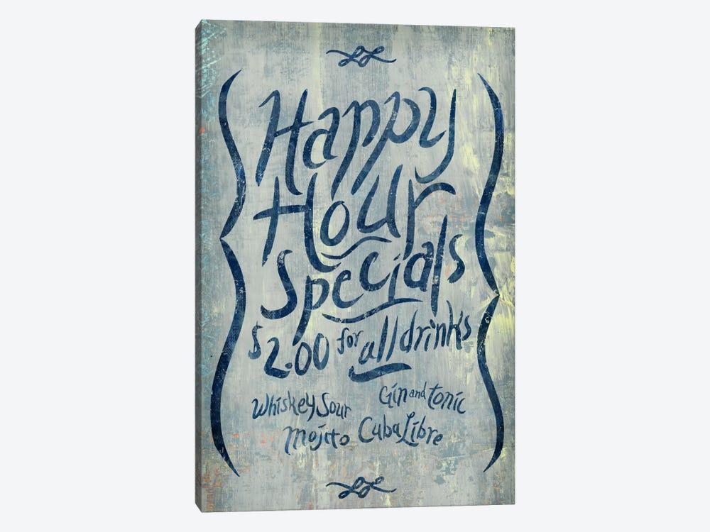 Happy Hour Blue by PI Studio 1-piece Canvas Artwork