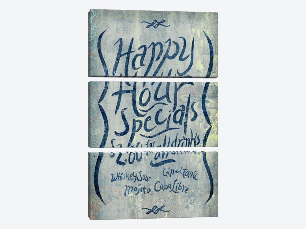 Happy Hour Blue by PI Studio 3-piece Canvas Wall Art