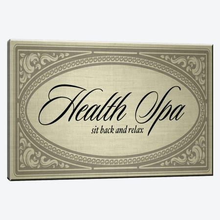 Health Spa Sit Back And Relax Canvas Print #PST325} by PI Studio Canvas Artwork