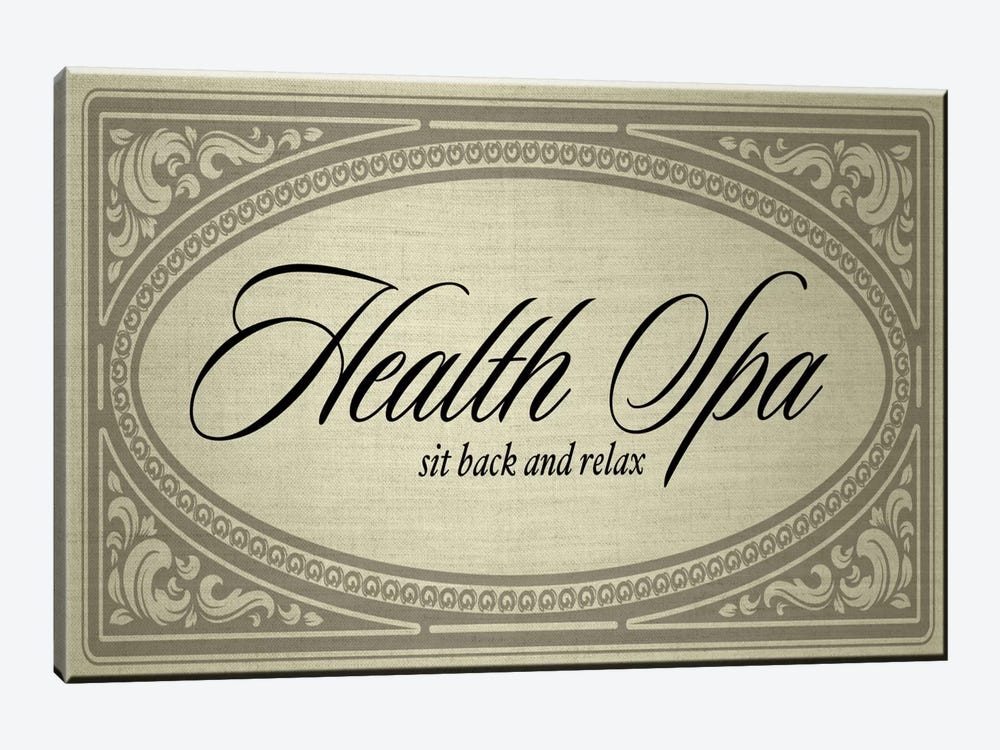 Health Spa Sit Back And Relax by PI Studio 1-piece Art Print