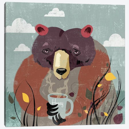 Honey Bear Canvas Print #PST334} by PI Studio Canvas Art Print