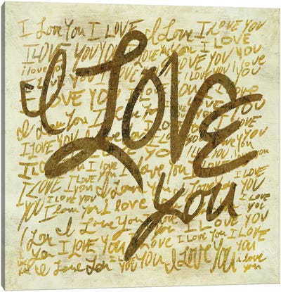 I Love You Canvas Art Print
