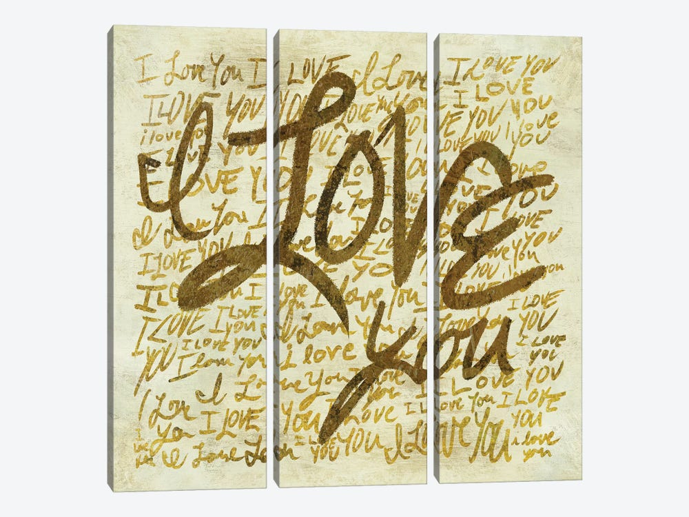 I Love You by PI Studio 3-piece Canvas Print
