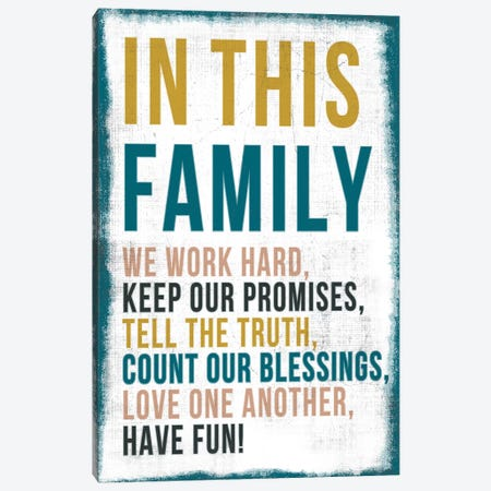 In This Family Canvas Print #PST359} by PI Studio Canvas Art