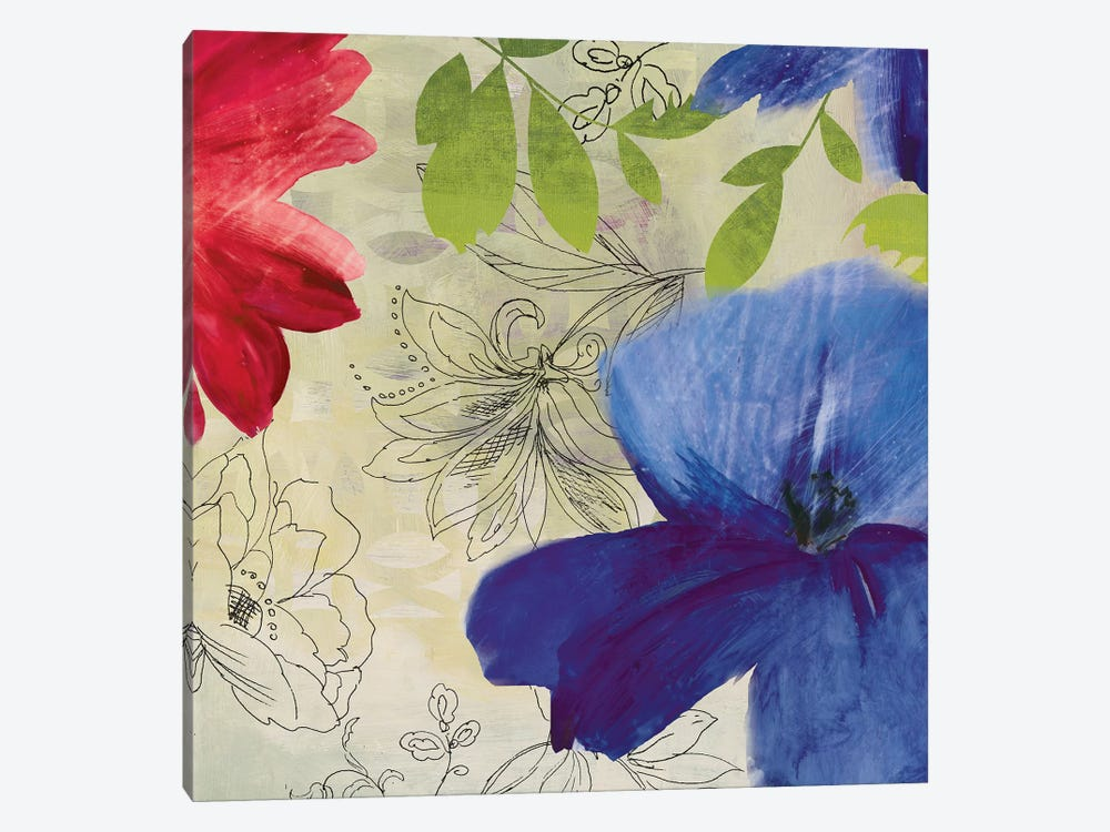 Indigo Flower II by PI Studio 1-piece Canvas Artwork