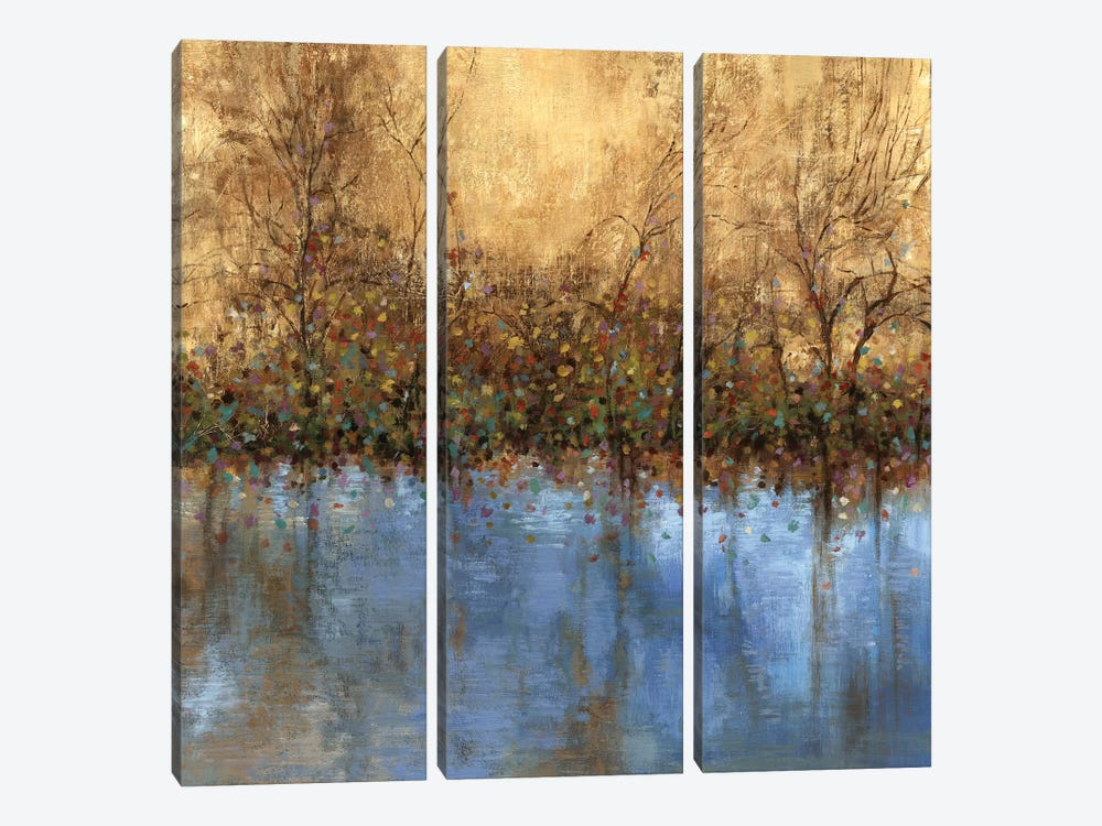 Indigo Landscape by PI Studio 3-piece Canvas Artwork