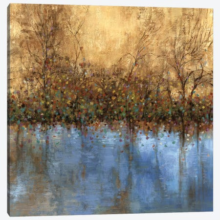 Indigo Landscape Canvas Print #PST364} by PI Studio Canvas Artwork