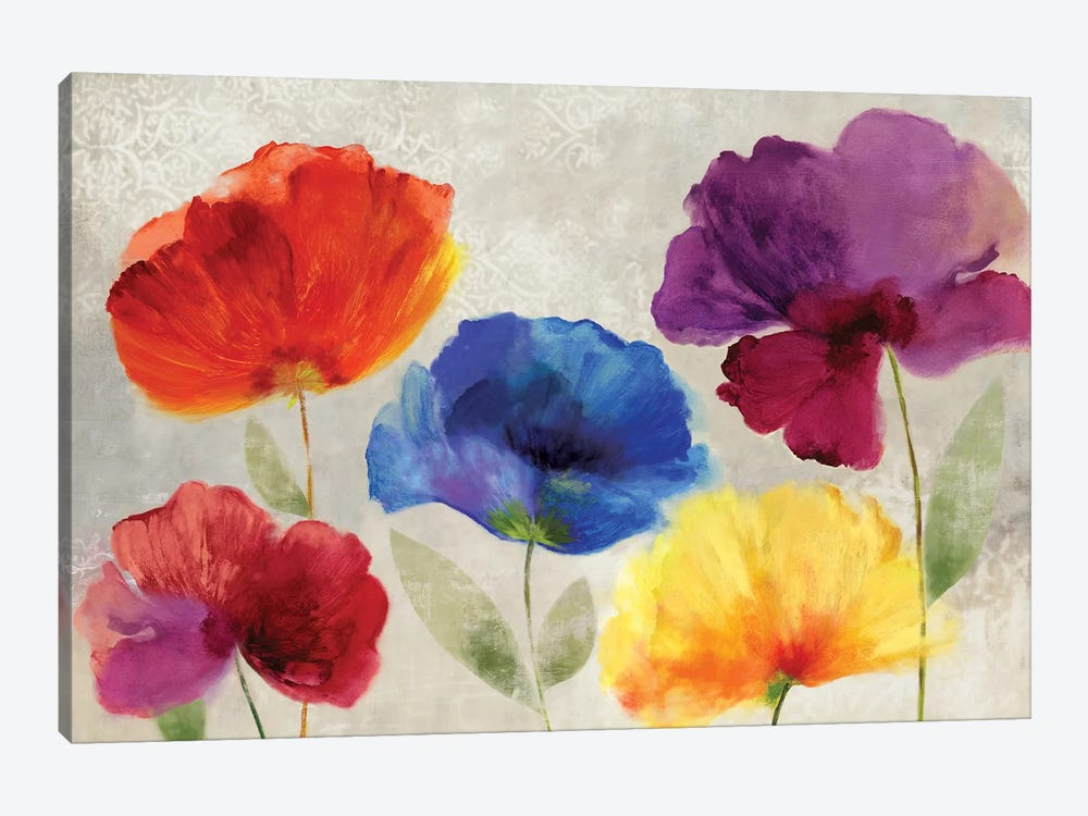 Jewel Florals by PI Studio 1-piece Canvas Artwork