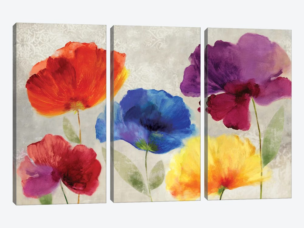 Jewel Florals by PI Studio 3-piece Canvas Wall Art