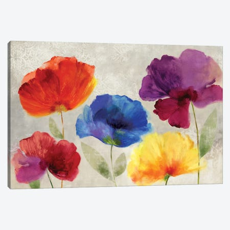 Jewel Florals Canvas Print #PST380} by PI Studio Canvas Art Print