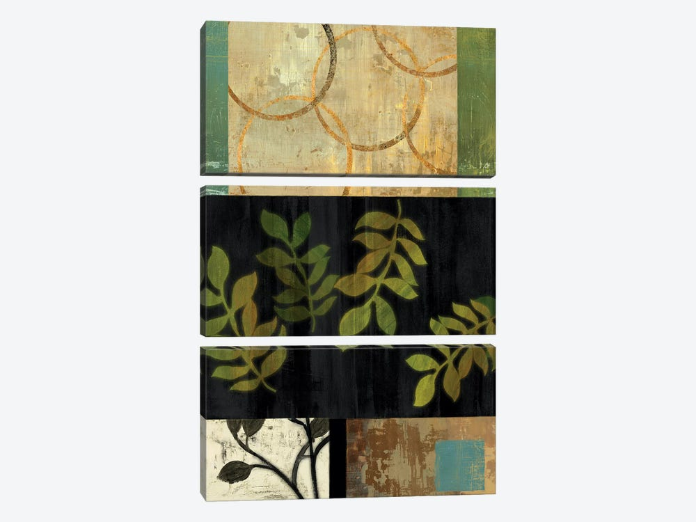 Leaves Of Green I by PI Studio 3-piece Canvas Art Print