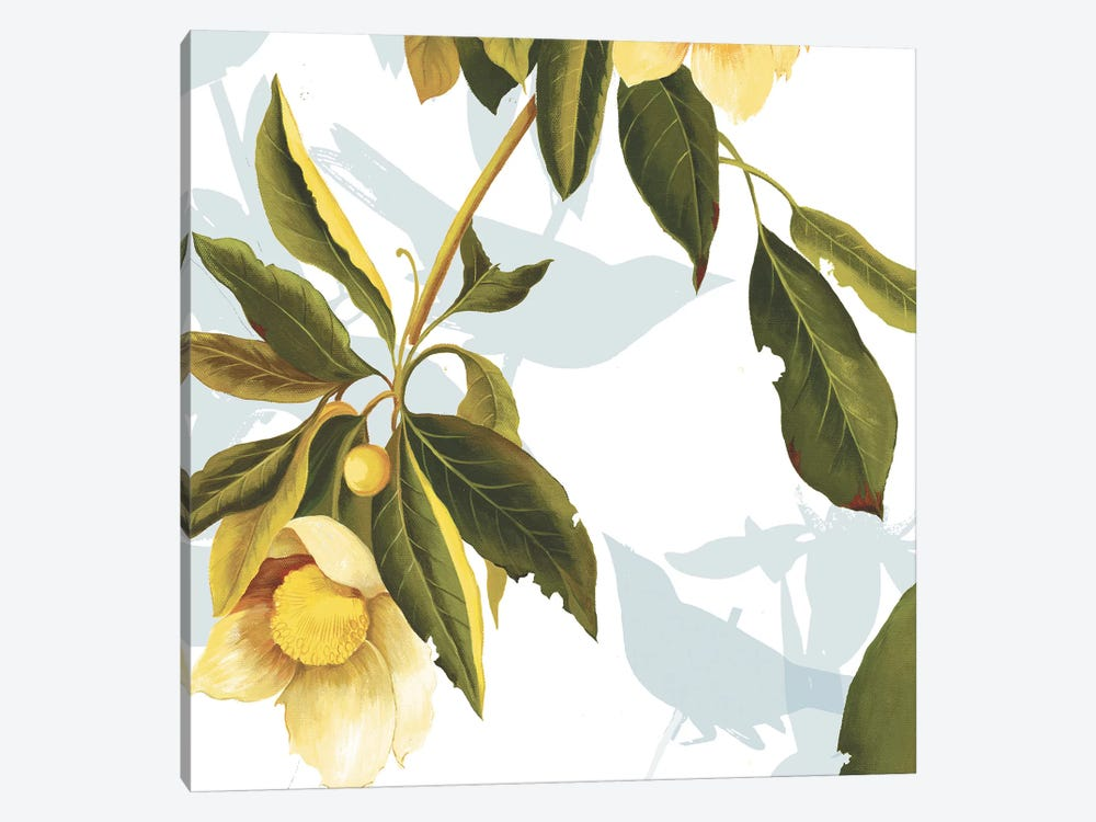 Lemon Floral by PI Studio 1-piece Canvas Wall Art