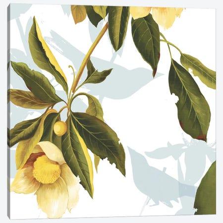 Lemon Floral Canvas Print #PST399} by PI Studio Canvas Artwork