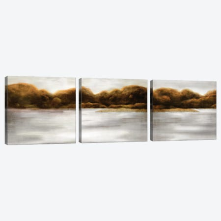 Red Landscape Triptych Canvas Print Set #PST3HSET001} by PI Studio Canvas Wall Art