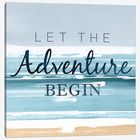Let The Adventure Begin Canvas Print #PST401} by PI Studio Canvas Art