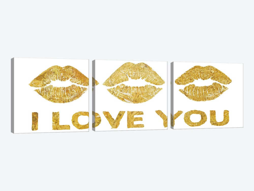 Lip Love II by PI Studio 3-piece Canvas Art