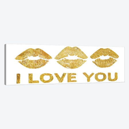 Lip Love II Canvas Print #PST405} by PI Studio Art Print