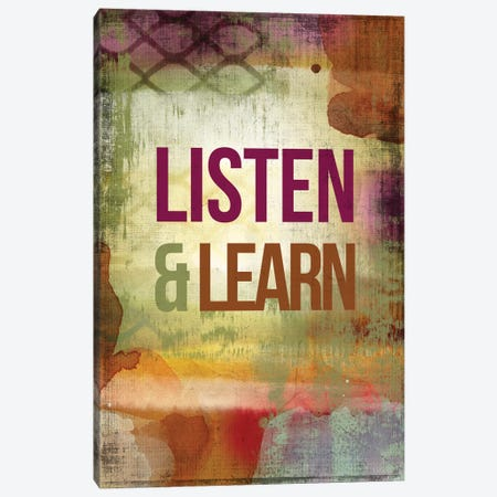 Listen & Learn Canvas Print #PST408} by PI Studio Canvas Artwork