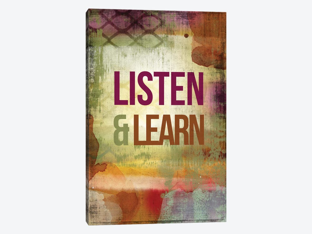 Listen & Learn by PI Studio 1-piece Canvas Print