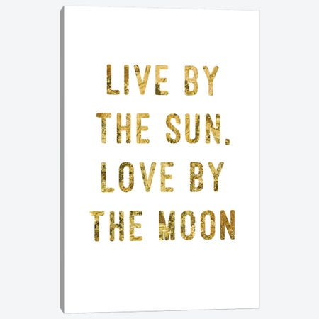 Live By Gold Canvas Print #PST414} by PI Studio Canvas Art