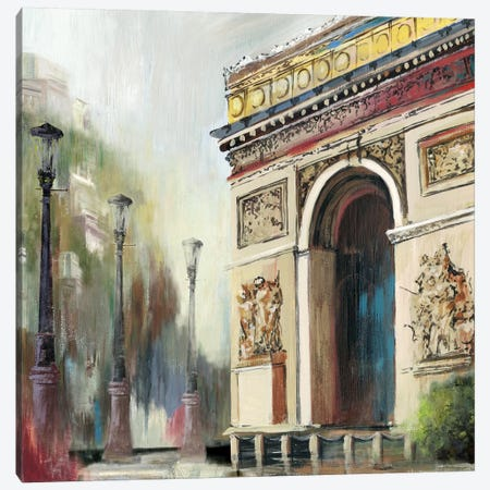 Arc de Triumph Canvas Print #PST42} by PI Studio Canvas Wall Art