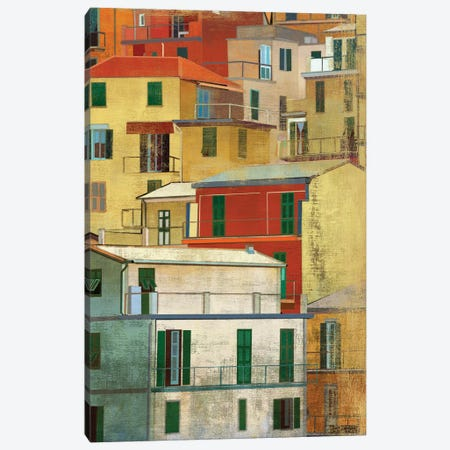 Manarola, Italy I Canvas Print #PST440} by PI Studio Canvas Wall Art