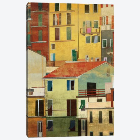 Manarola, Italy II Canvas Print #PST441} by PI Studio Canvas Artwork
