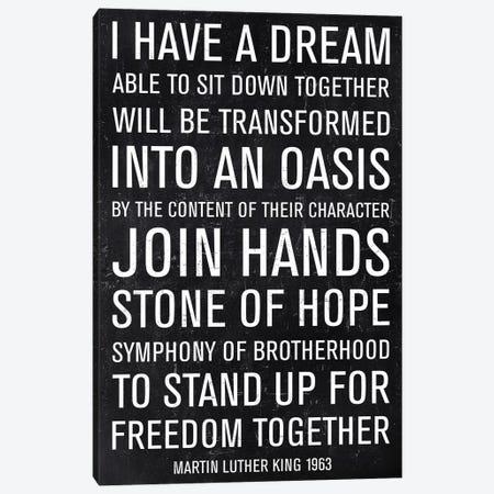 Martin Luther King Speech Canvas Print #PST453} by PI Studio Canvas Art Print