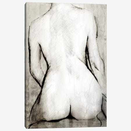 Nude Back Canvas Print #PST504} by PI Studio Canvas Wall Art