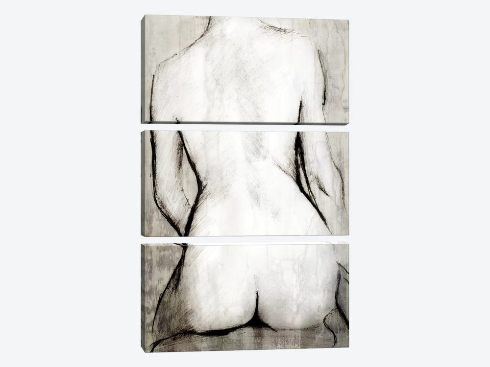 Nude Back 3-piece Canvas Artwork