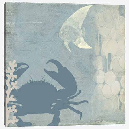 Ocean Life II 3-Piece Canvas #PST515} by PI Studio Canvas Print