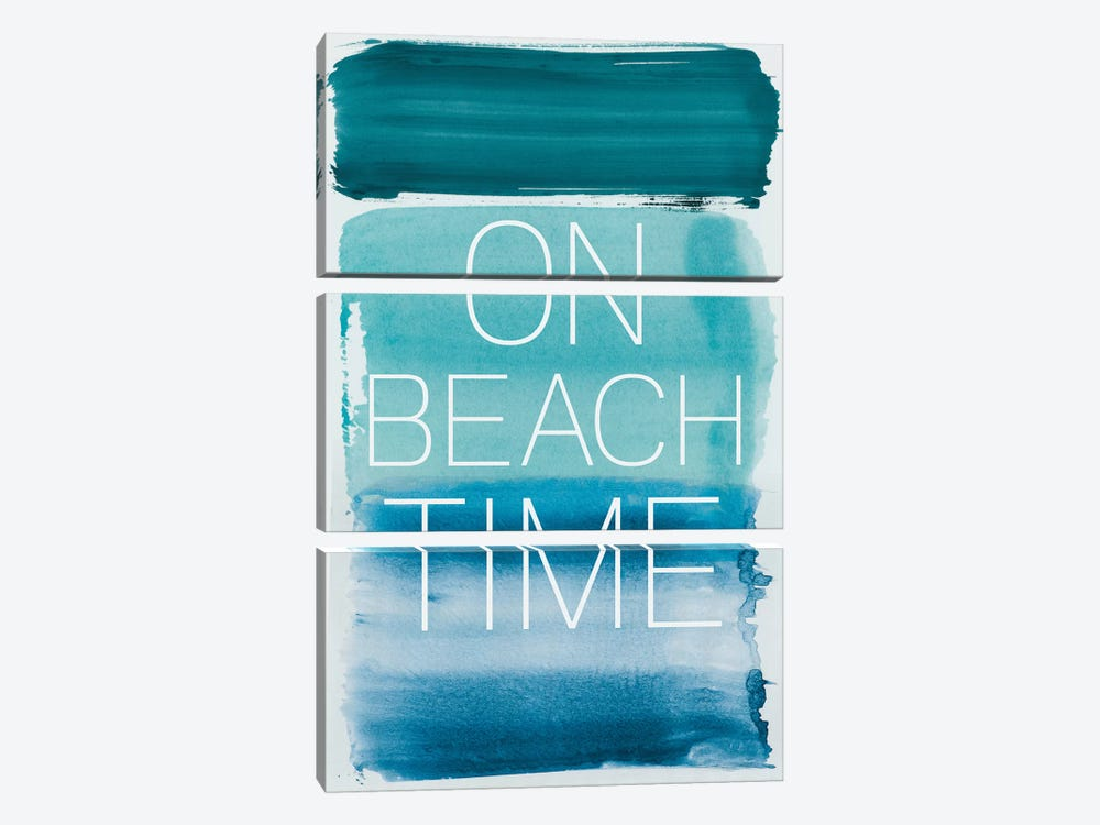 On Beach Time by PI Studio 3-piece Canvas Art Print